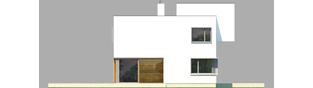 Projekt domu EX 10 (z wiatą) soft - elewacja lewa