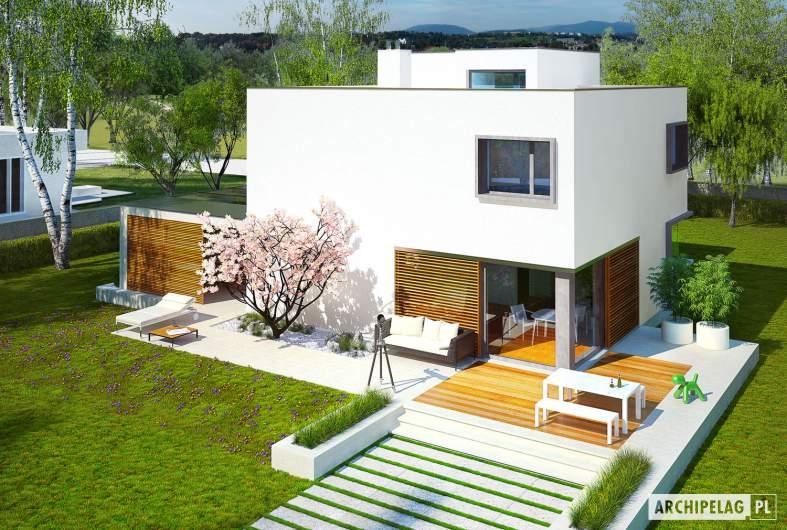 Projekt domu EX 10 (z wiatą) soft - widok z góry