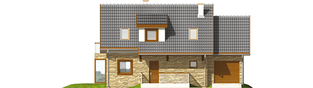 Projekt domu Nika G1 - elewacja frontowa
