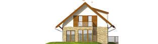 Projekt domu Nika G1 - elewacja lewa
