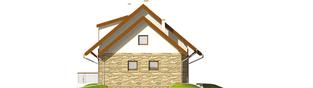 Projekt domu Nika G1 - elewacja prawa