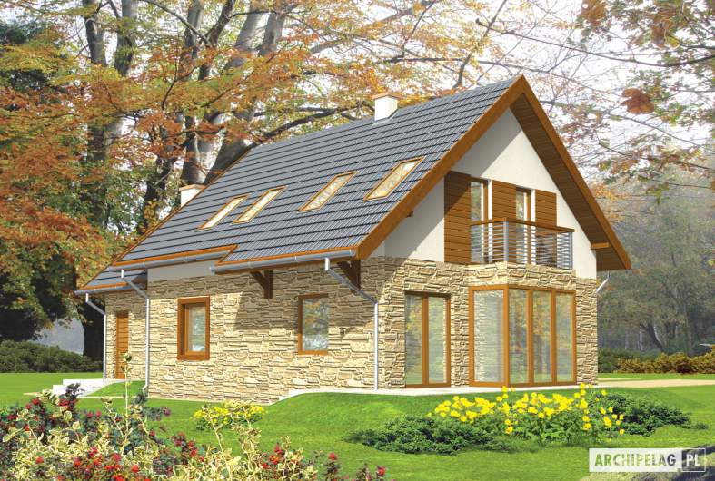Projekt domu Nika G1 - wizualizacja ogrodowa