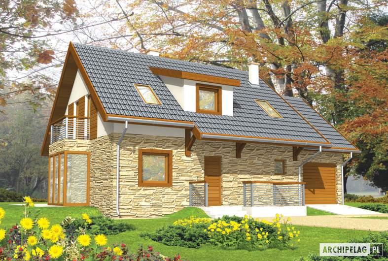 Projekt domu Nika G1 - wizualizacja frontowa