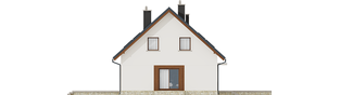 Projekt domu Marcin G2 - elewacja lewa