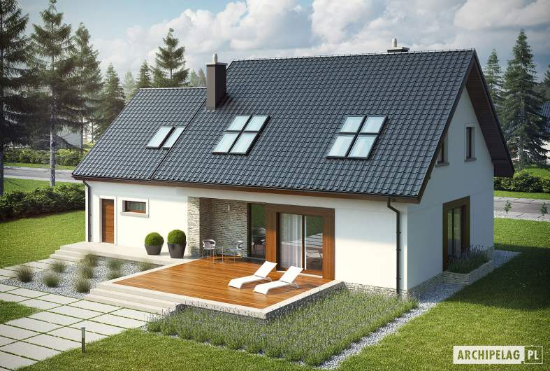 Projekt domu Marcin G2 - widok z góry