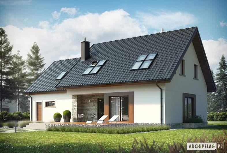 Projekt domu Marcin G2 - wizualizacja ogrodowa