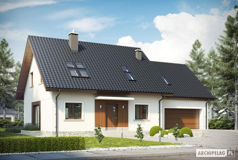 Projekt domu Marcin G2 - wizualizacja frontowa