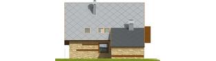 Projekt domu Lotka (z wiatą) - elewacja lewa