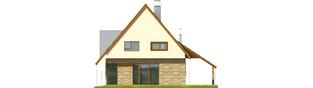 Projekt domu Lotka (z wiatą) - elewacja tylna