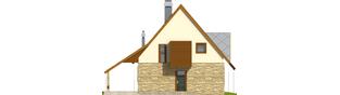 Projekt domu Lotka (z wiatą) - elewacja frontowa