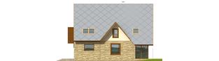 Projekt domu Lotka (z wiatą) - elewacja prawa