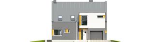 Projekt domu Antek G1 - elewacja frontowa