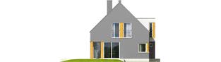 Projekt domu Antek G1 - elewacja lewa