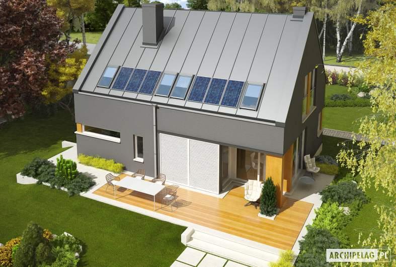 Projekt domu Antek G1 - widok z góry