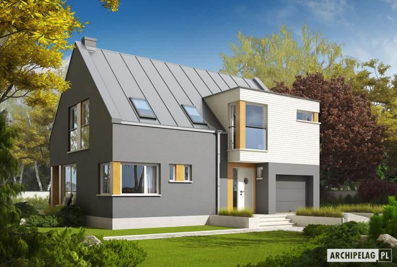 Projekt domu Antek G1 - wizualizacja frontowa