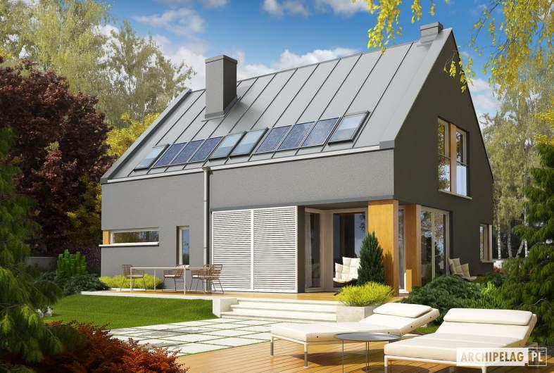 Projekt domu Antek G1 - wizualizacja ogrodowa