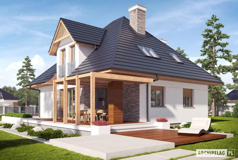 Projekt domu Tilda G1 - Projekty domów ARCHIPELAG - Tilda G1 - wizualizacja ogrodowa
