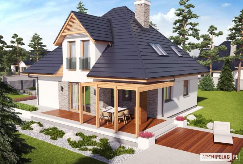 Projekt domu Tilda G1 - Projekty domów ARCHIPELAG - Tilda G1 - widok z góry