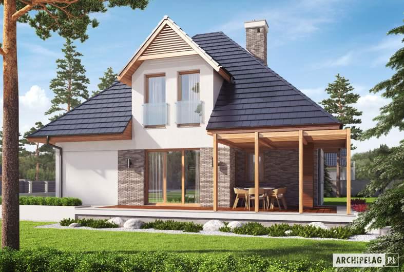 Projekt domu Tilda G1 - Projekty domów ARCHIPELAG - Tilda G1 - elewacja prawa