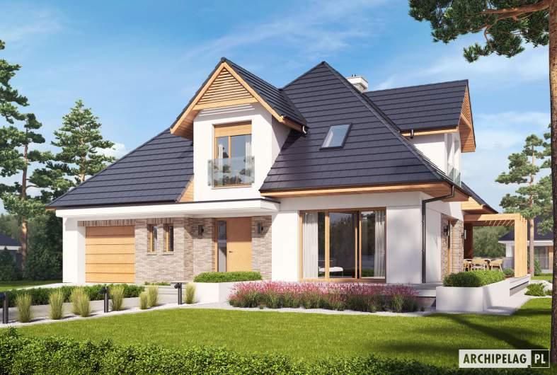 Projekt domu Tilda G1 - Projekty domów ARCHIPELAG - Tilda G1 - wizualizacja frontowa
