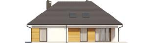 Projekt domu Olaf G2 - elewacja tylna