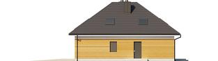 Projekt domu Olaf G2 - elewacja prawa
