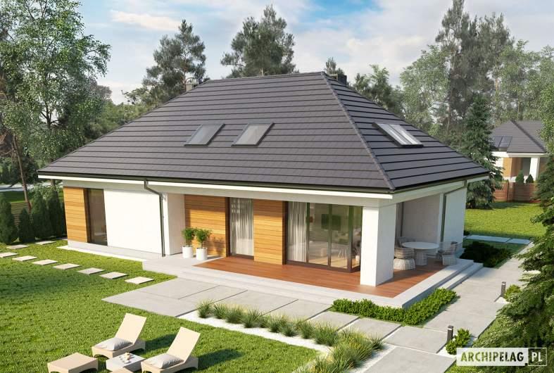 Projekt domu Olaf G2 - widok z góry