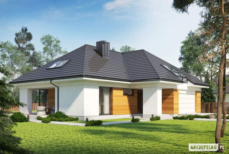 Projekt domu Olaf G2 - wizualizacja frontowa lewa