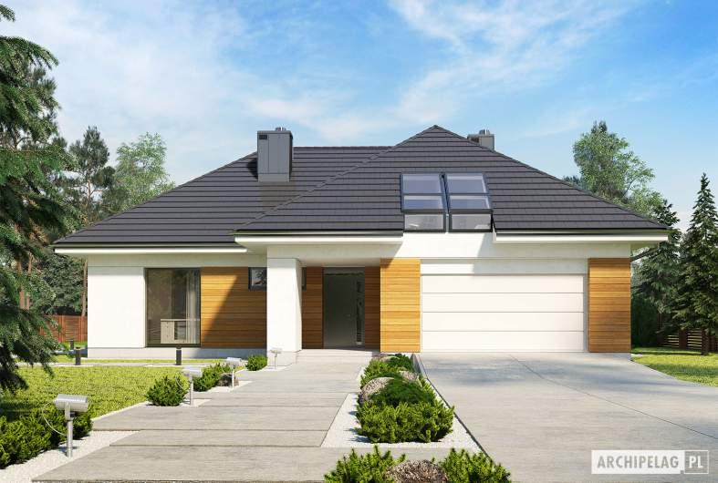 Projekt domu Olaf G2 - wizualizacja frontowa