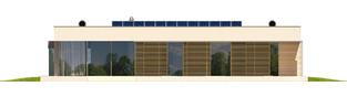 Projekt domu EX 7 (z wiatą) ENERGO PLUS - elewacja tylna