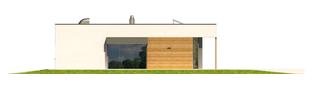 Projekt domu EX 7 (z wiatą) ENERGO PLUS - elewacja prawa