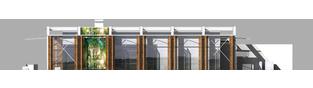 Projekt domu Horacy (z wiatą) - elewacja lewa