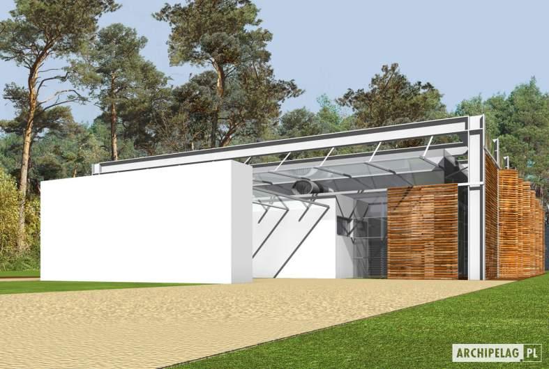 Projekt domu Horacy (z wiatą) - wizualizacja frontowa
