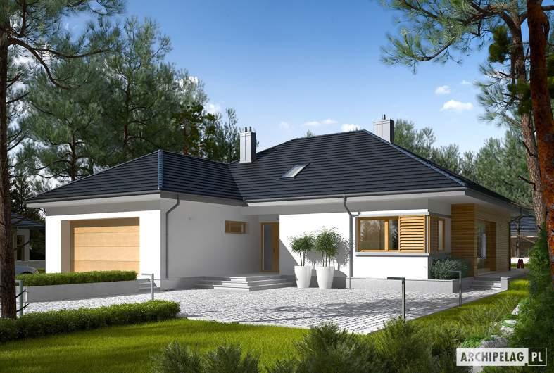 Projekt domu Marcel III G2 - wizualizacja frontowa