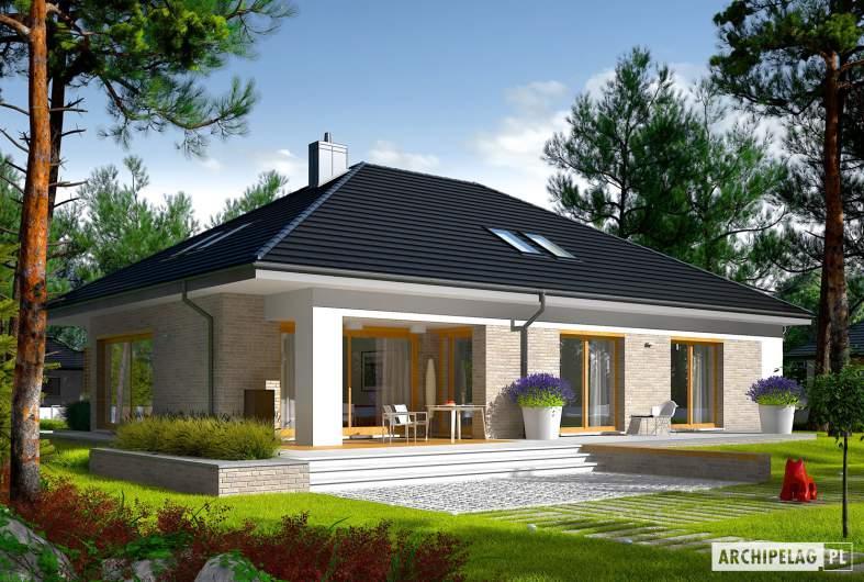 Projekt domu Marcel IV G2 - wizualizacja ogrodowa