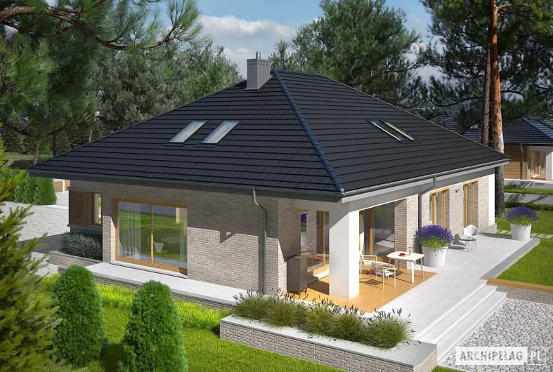 Projekt domu Marcel IV G2 - widok z góry