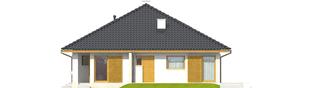 Projekt domu Flori III ECONOMIC (wersja A) 30 stopni - elewacja prawa