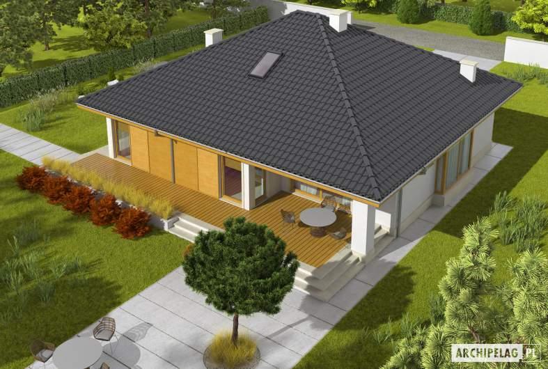 Projekt domu Flori III ECONOMIC (wersja A) 30 stopni - widok z góry