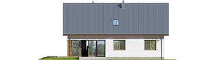 Projekt domu Swen - elewacja tylna