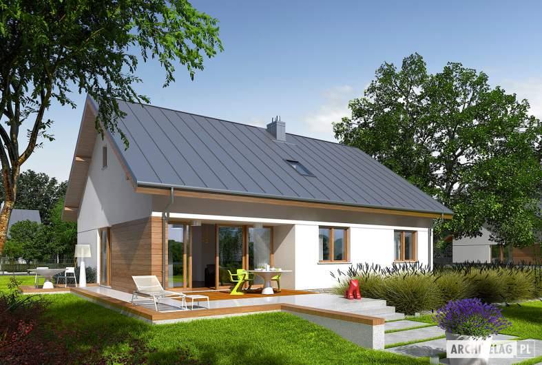 Projekt domu Swen - wizualizacja ogrodowa