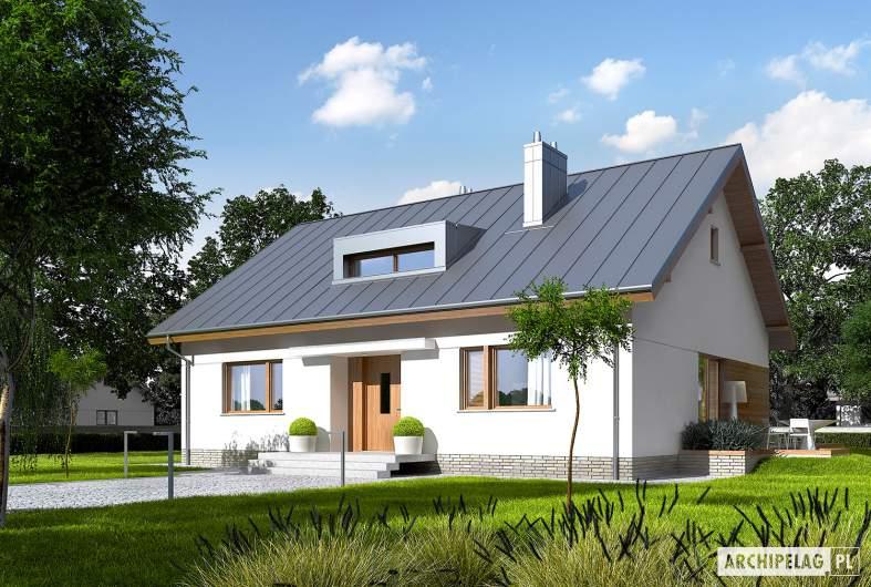 Projekt domu Swen - wizualizacja frontowa