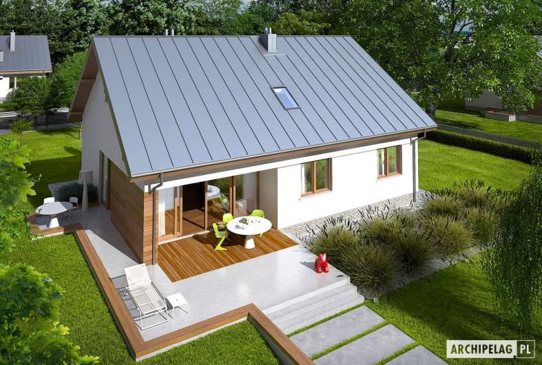 Projekt domu Swen - widok z góry