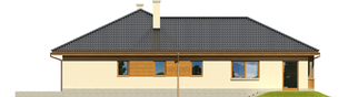 Projekt domu Alan G1 - elewacja lewa