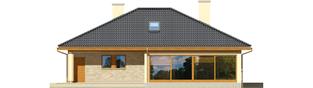 Projekt domu Alan G1 - elewacja tylna