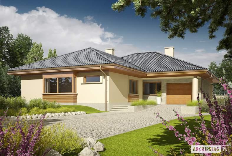 Projekt domu Alan G1 - wizualizacja frontowa