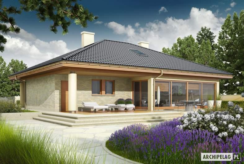 Projekt domu Alan G1 - wizualizacja ogrodowa
