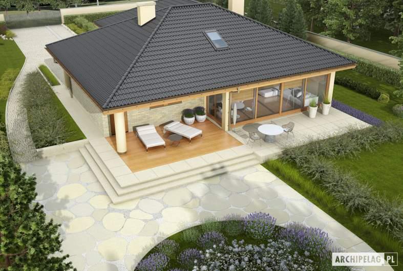 Projekt domu Alan G1 - widok z góry