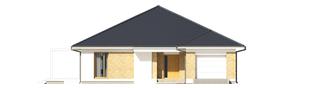 Projekt domu Irma III G1 ENERGO PLUS  - elewacja frontowa