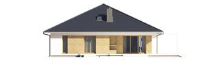 Projekt domu Irma III G1 ENERGO PLUS  - elewacja tylna