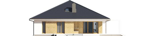 Irma G1 ENERGO PLUS - Projekt domu Irma III G1 ENERGO PLUS - elewacja tylna